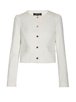 Cropped Buttoned Jacket