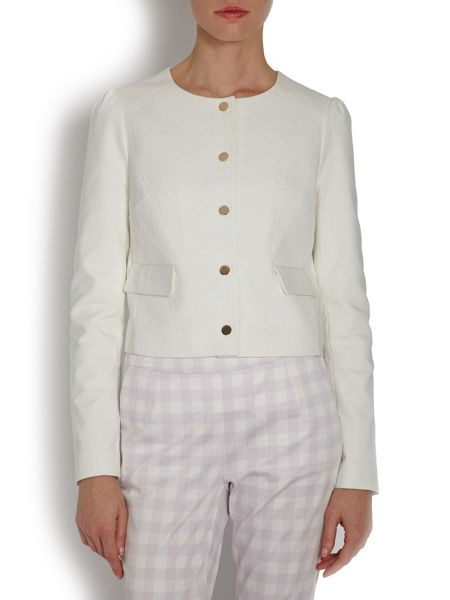 Morgan Cropped Buttoned Jacket