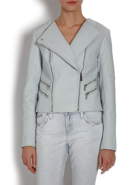 Morgan Biker-style jacket with zipped detail