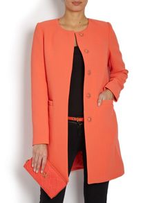 Buttoned mid-thigh length coat