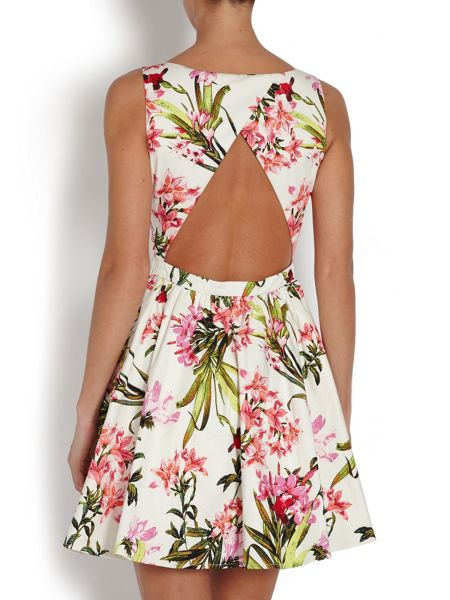 Morgan Bold flower print mini dress