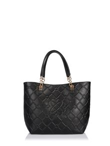 Shopping-style bag with embossed detail