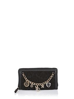Purse with lace and chain detailing