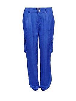 Satin-look Harem-style Trousers