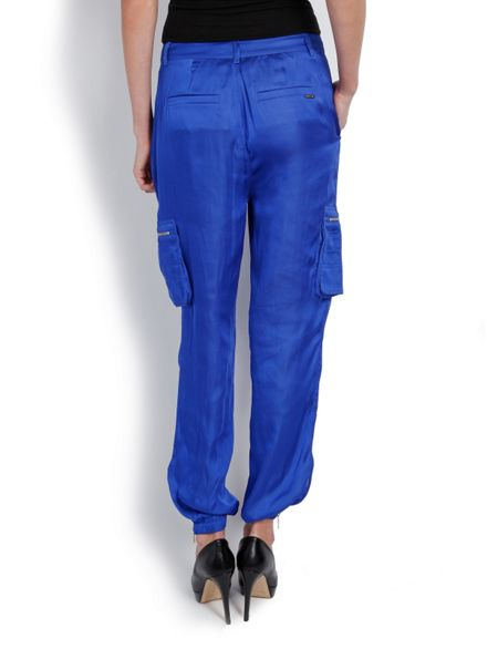 Morgan Satin-look Harem-style Trousers