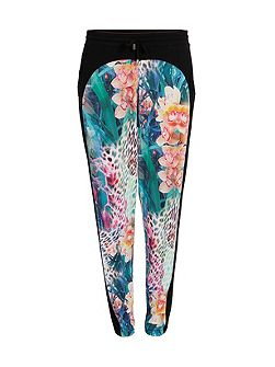 Slim-fit Trousers with Floral Patterning