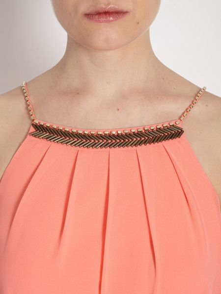 Morgan Toga-style Dress with Decorated Collar