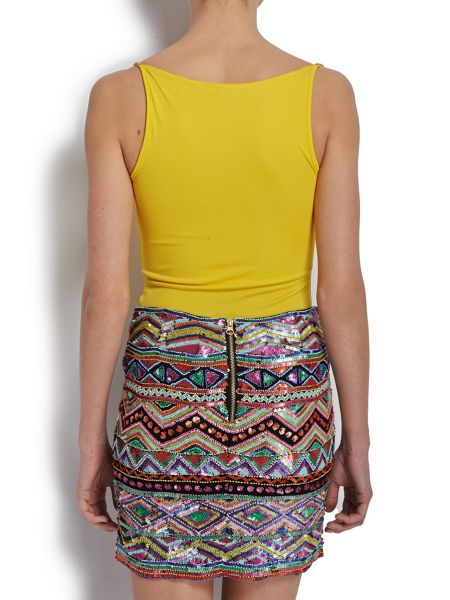 Morgan Sleeveless Top With Gemstone Straps