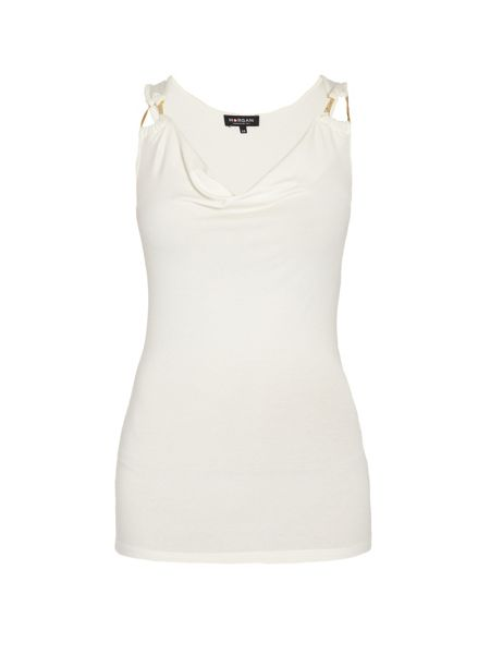 Morgan Strapless longline top with metal rings