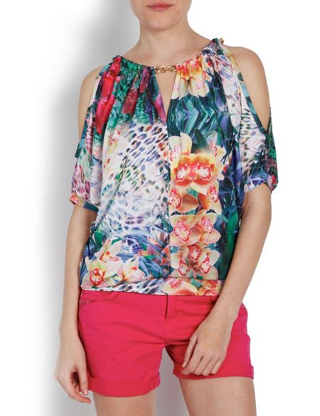 Morgan Relaxed-fit All-over Pattern Top