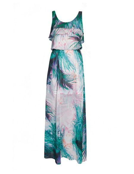Morgan Floral Maxi Dress with Ruffle Detail