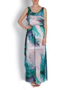 Floral Maxi Dress with Ruffle Detail