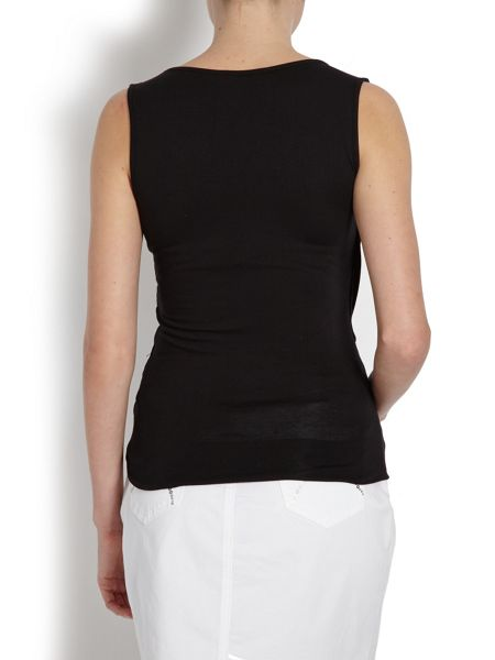 Morgan Dual-layer Top with Front Tie