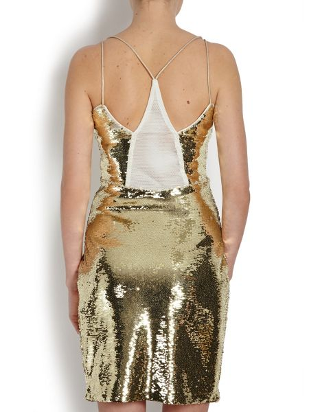 Morgan Dual-layer sequin dress
