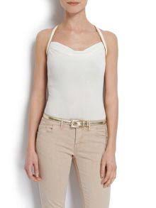 Fitted top with racer-style back