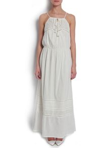 Maxi dress with embroidered detail