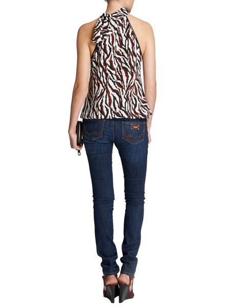 Morgan Animal-print halterneck top