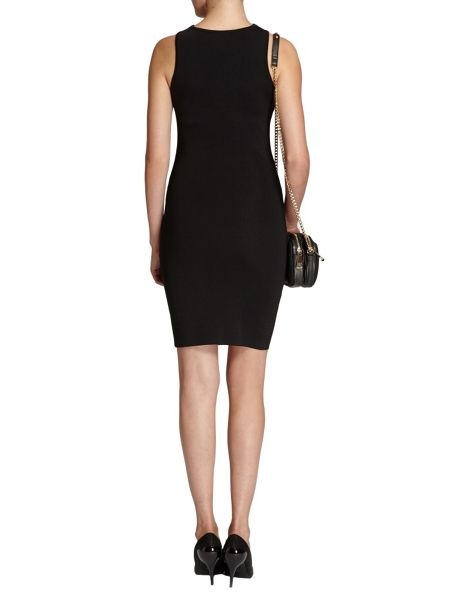 Morgan Metal buckle-strap fitted dress