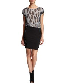 Morgan Zipped hem detail miniskirt