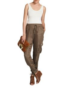 Morgan Slim-leg tapered cargo trouser
