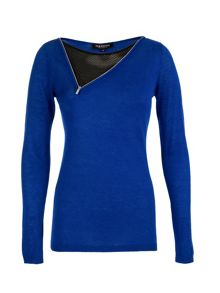 Morgan Asymmetric Front-Zip Sweater