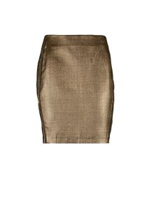Morgan Golden-Look Pencil Skirt
