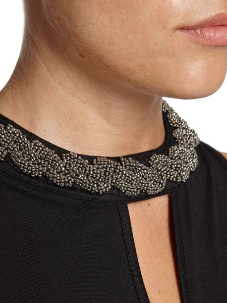 Morgan Collar-Detail Halterneck Top