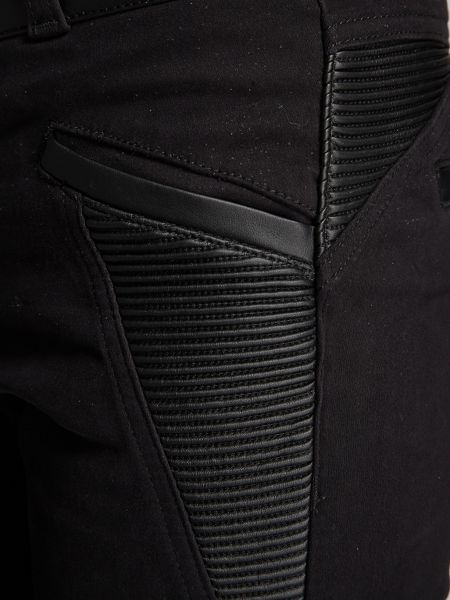 Morgan Slim-fit leather-look detail trouser
