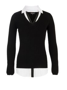Morgan 2-In-1 Sweater And Blouse