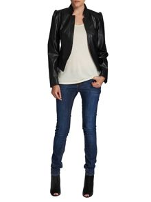 Morgan Waterfall-style leather-look jacket