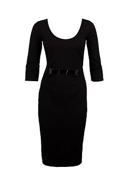 Sheath Dress With Golden Plate