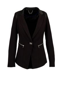 Morgan Fitted Dual Material Jacket