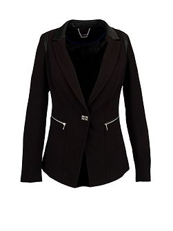 Fitted Dual Material Jacket