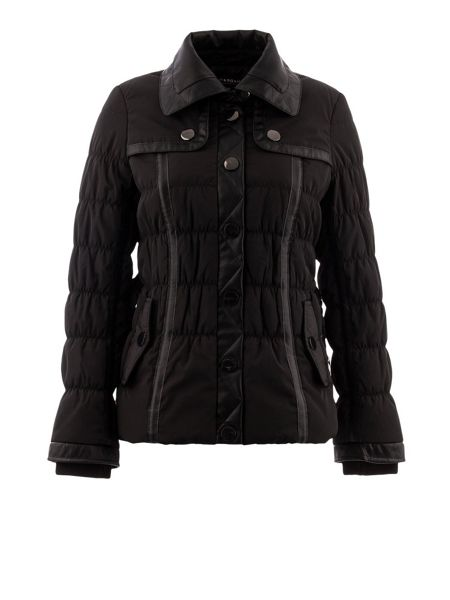 Morgan Leather-look studded-detail jacket