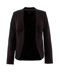 Classic tailored collarless jacket