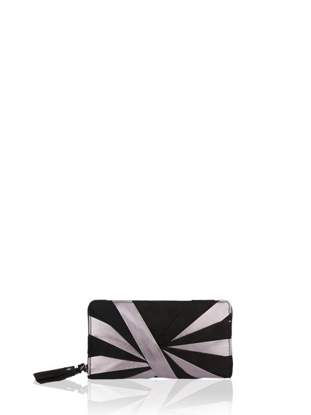 Morgan Small stripe-design handbag