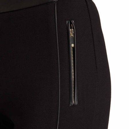 Morgan Slim Cut Trousers With Zip And Trim