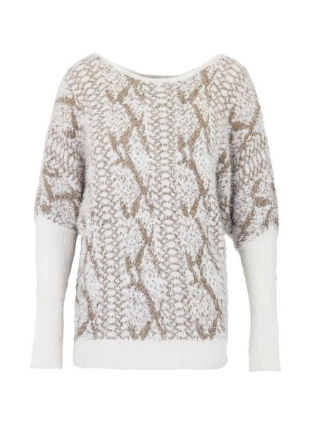 Morgan Shaggy sweater with snakeskin pattern