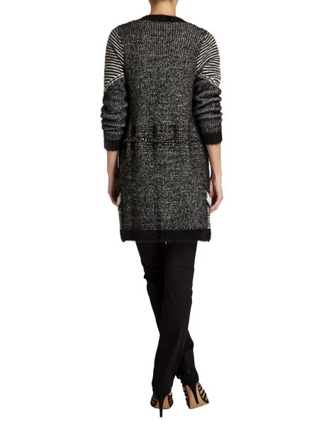Morgan Designer Knit Cardigan With Chain