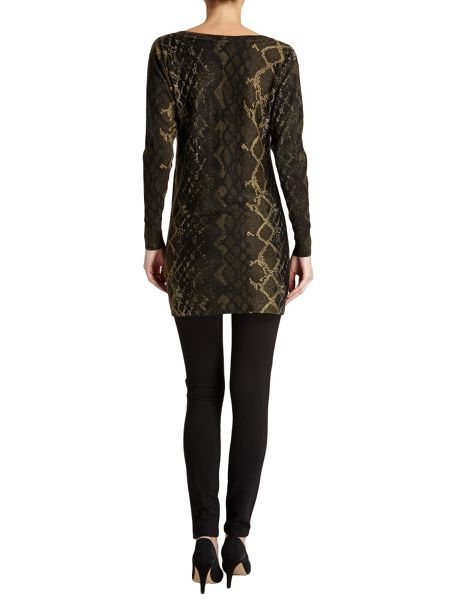 Morgan Imitation Snakeskin Tunic Jumper