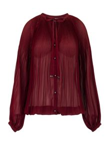 Morgan Tie-neck pleated blouse