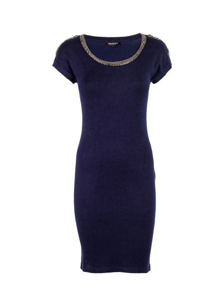 Morgan Beaded-detail fitted dress
