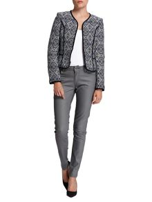 Morgan Fitted Geometric Pattern Jacket
