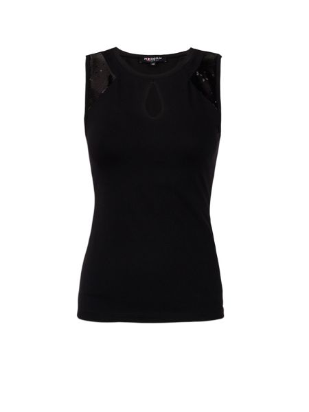 Morgan Fitted Tank Top With Neckline Cut-Out