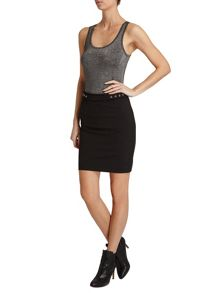 Morgan Faux Zip Regular Fit Skirt