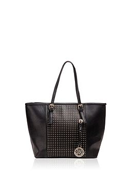 Carrier bag with rock`n`roll style studs