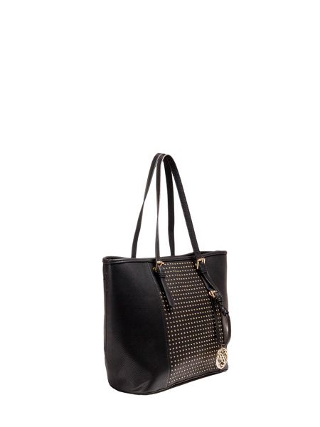 Morgan Carrier bag with rock`n`roll style studs