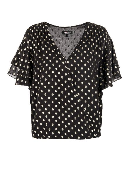 Morgan Loose-fitting spotted top