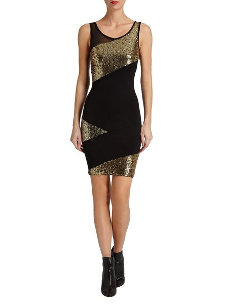 Morgan Golden Sequin Dress