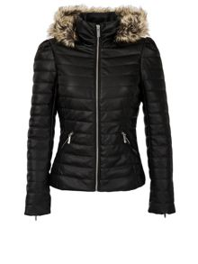 Morgan Down Jacket With Faux Fur Hood